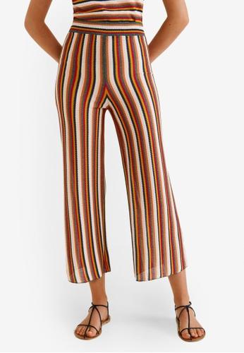 2d0d46cb7401 Buy Mango Striped Knit Trousers Online on ZALORA Singapore