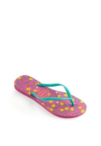Havaianas pink Slim Romance Flip Flops F77AESHEEED2AAGS_1