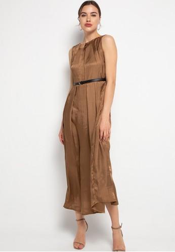 FAME brown Maxy dress / overall B46E7AAA85BC7DGS_1