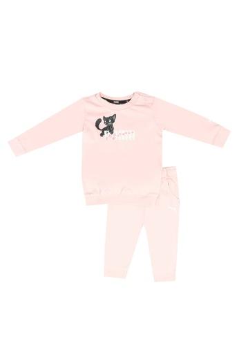 PUMA pink Animals Crew Jogger Set 03638KACB6EC29GS_1