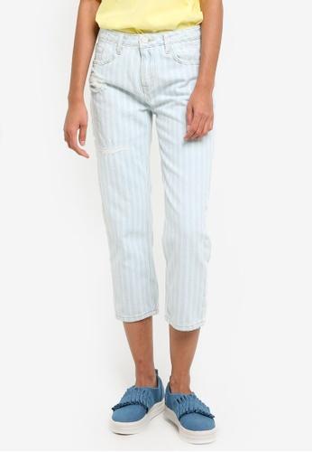 Mango blue Summer Straight Crop Jeans MA193AA01CCWMY_1