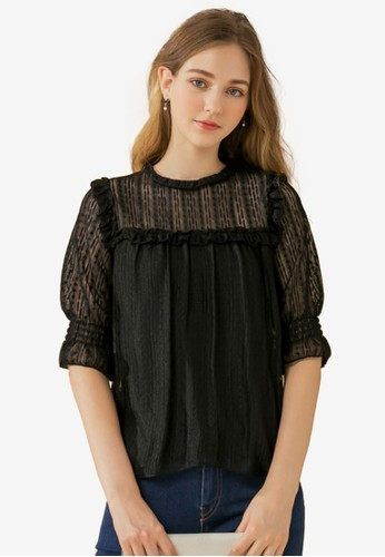 Eyescream black Victorian Lace Blouse A7726AABAF4755GS_1