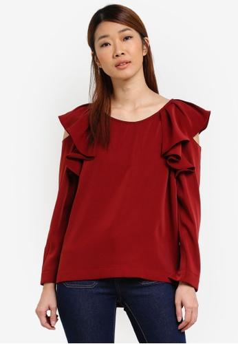 31bc46042f512c Buy Selected Femme Kassia Cold Shoulder Top