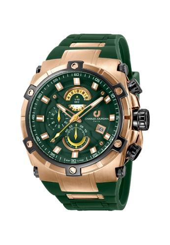 Charles Jourdan green Charles Jourdan Men Watch Chronograph CJ1022-1592C CH774AC0W11XID_1