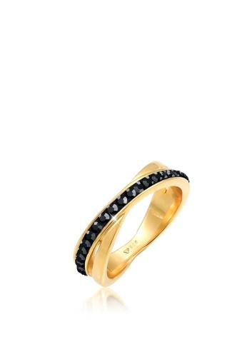 ELLI GERMANY 黑色 环裹水晶镀金 5853EAC63E0ED1GS_1