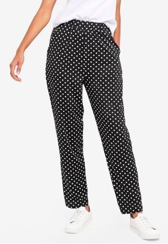 ZALORA BASICS black and multi Basic Jersey Peg Leg Pants BCCD5AA3403532GS_1
