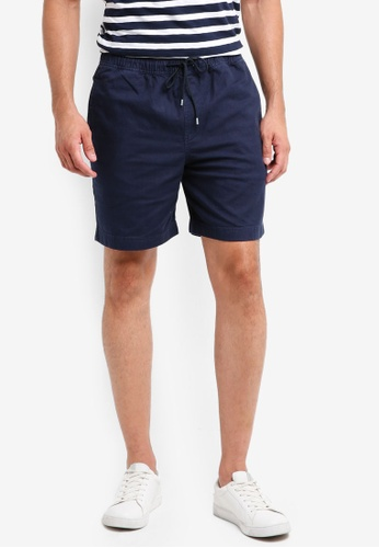Brooks Brothers 海軍藍色 彈性抽繩短褲 86AB0AABE13020GS_1