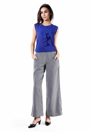 Le Reve grey Le Reve Grey Wide Leg Pants with Pockets 68361AADBD8165GS_1