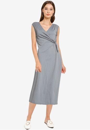 ZALORA WORK multi Sleeveless Wrap Dress 6CE2EAA147F1C2GS_1