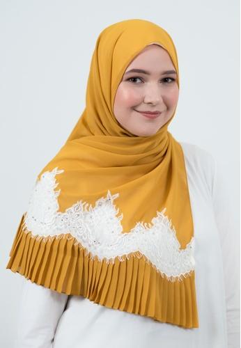Bait Al Hijaab yellow Long Scarf (Shawl) KHALIISAH 346F7AAF53423EGS_1