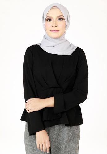 Ashura black Eryna Layered Wrap Top 2C45FAA425A872GS_1