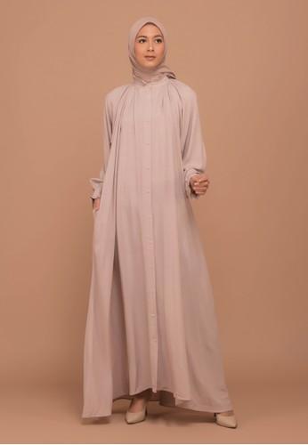 Tufine beige Balqis Dress Beige C67B4AAD8E2C49GS_1