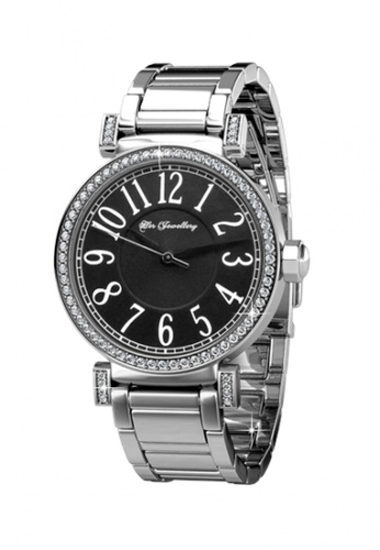 Her Jewellery black and silver Her Jewellery Simplicity Watch (Black) with Premium Grade Crystals from Austria 4BFA0AC14BF8E2GS_1