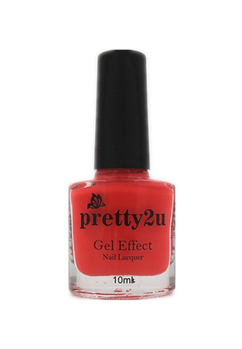 Pretty2u red Gel Effect Nail Lacquer 21 PR716BE28YCLMY_1