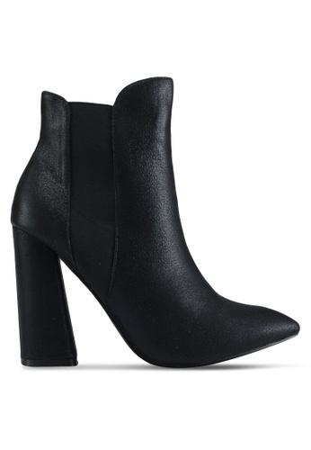 Public Desire black Bentley Block Heel Ankle Boots 87D80SH761AF86GS_1