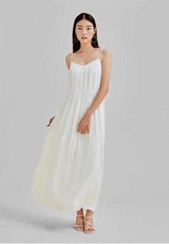 Love, Bonito white Talia Pleated Maxi Camisole Dress 5BAA5AA32CD35BGS_1