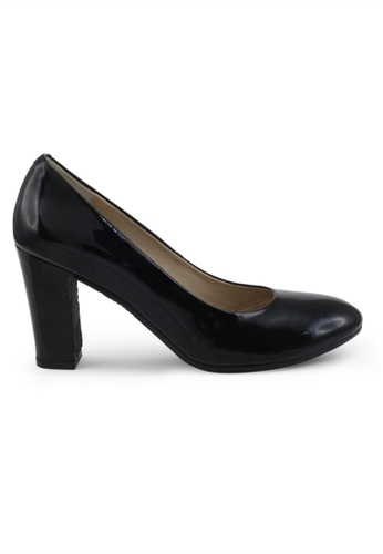 Shu Talk black Round Toe Patent High Heels SH397SH0FPKSSG_1