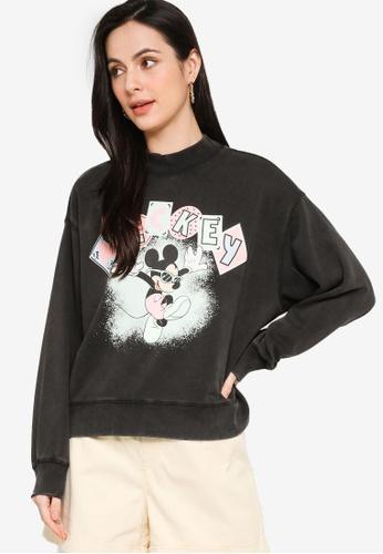 H&M black and multi Printed Sweatshirt 15355AA3ACEFEDGS_1