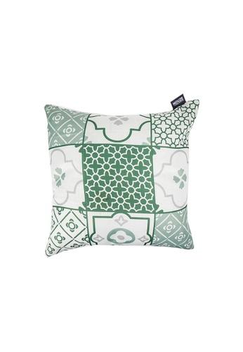 HOUZE green HOUZE - LIV Peranakan Cushion Cover - Green A 3904DHL48A703AGS_1