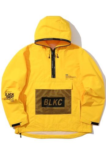 :CHOCOOLATE yellow Mesh pocket anorak 3989FAA3652925GS_1