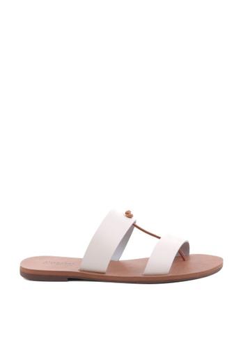 Anacapri white Flat Relax Sandals 4E5BCSH21EBB69GS_1