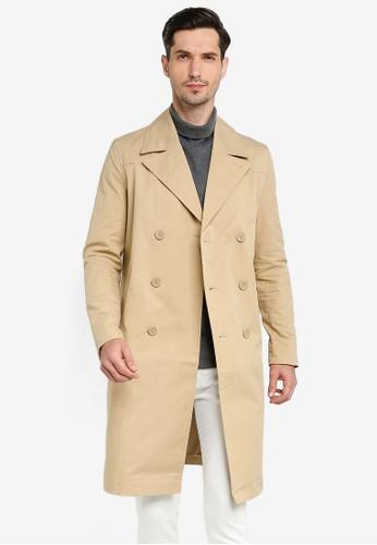 Calvin Klein beige A-Prem Trench Jacket - Calvin Klein Jeans EBEF9AAA667A21GS_1