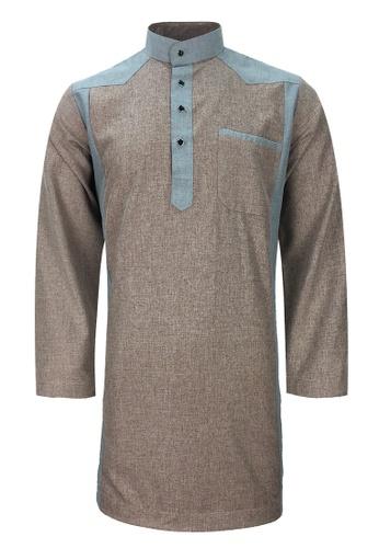 Pacolino grey Baju Kurta Muslim For Kids - EK1704 (Grey) 52A79KA29B9BF2GS_1