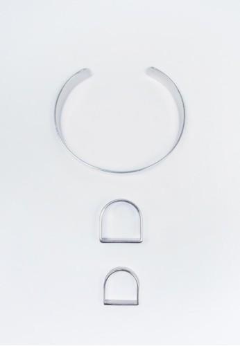 圓角幾何esprit outlet手環戒指組, 飾品配件, 戒指