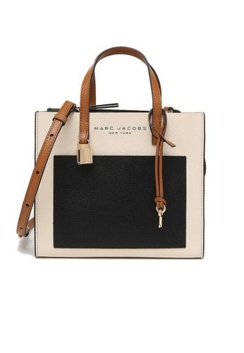 MARC JACOBS black and white and multi Marc Jacobs Mini Grind Satchel Tote Bag M0016132 Sandshell Multi F04D5AC3461D3DGS_1