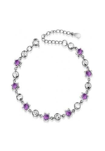 Elfi silver Elfi Silver Purple Stars Bracelet (Gelang Tangan) SB2 EL186AC0RQ8BMY_1