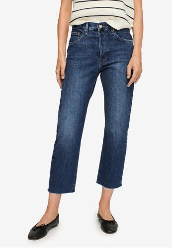 Mango blue Ankle-Length Straight-Fit Jeans F63FCAAAE0A421GS_1