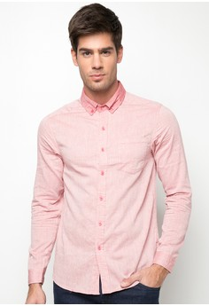 Long Sleeves Fine Stripes Shirt