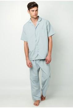 Hayate Classic Pajama Set (Gainsboro)