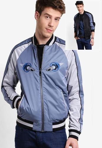 Boss Orange 海軍藍色 Reversible Ogosling Jacket - Boss Casual BO434AA73MHMMY_1
