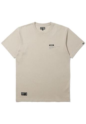 izzue beige Army logo tee 3DAE2AAA344D3AGS_1