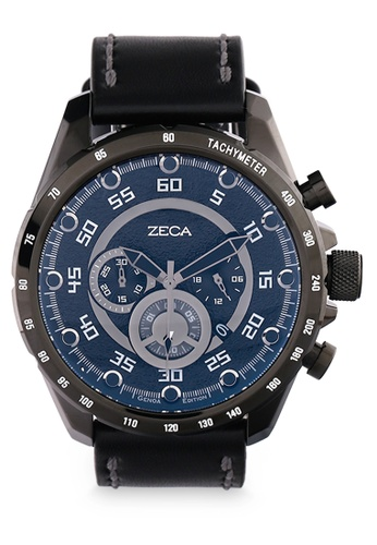 ZECA black Zeca Watches Man Fashion Leather Analog - 2018M Full Black 7222CAC7D56FE1GS_1