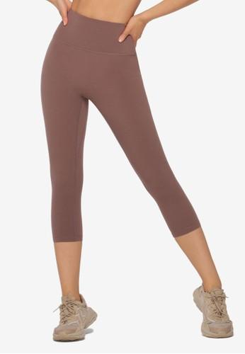 Lorna Jane brown Smooth Touch 7/8 Leggings 980E6AA90B4A45GS_1