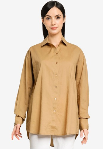 Vero Moda beige India Loose Shirt 78E80AA2DCC4ECGS_1