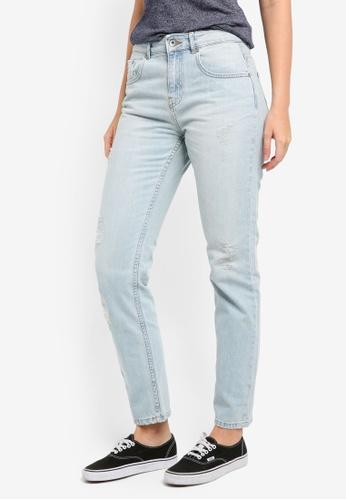 Superdry blue Riley Girlfriend Jeans SU137AA0T21RMY_1