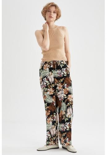 DeFacto black High Waist Viscose Trousers AD788AA68C00AFGS_1