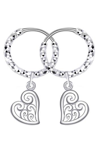 SC Tom Silver silver Curly Heart Loop Dangling Earring-ELC036W14 SC872AC42DGZPH_1