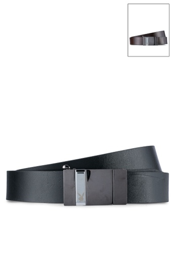 Playboy black and brown Playboy 35mm Reversible Belt PL371AC0SK1NMY_1