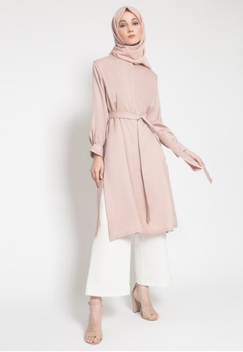 LISH pink and beige Kiyo Tunic - Pink Champagne 8B398AA17E07A7GS_1