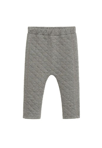MANGO BABY grey Quilted Trousers 03014KA35936B8GS_1