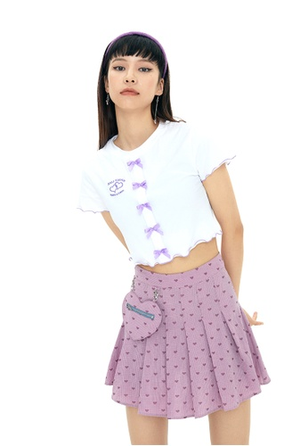 Twenty Eight Shoes Sweet Bow Slim Short Sleeve T-shirt HH-N0036 2012CAAEA7EF07GS_1