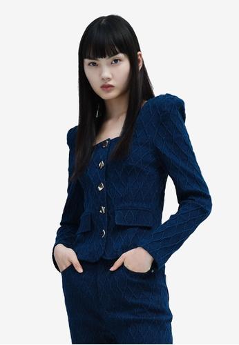 Urban Revivo blue Casual Top 97219AA1BFFB36GS_1