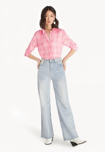 30ec2ba1e Buy Pomelo Plaid Buttoned Up Shirt - Pink Online on ZALORA Singapore
