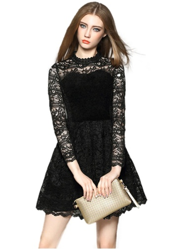 Sunnydaysweety black New Lace Dress CA0104145 46D54AAB32441CGS_1