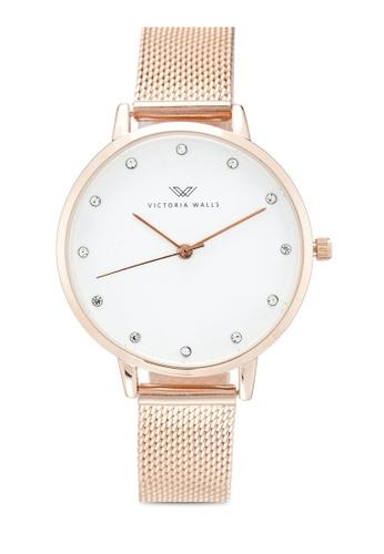 Victoria Walls Watches gold Designer Watch-Elegant Milanese Mesh Strap 61DADAC17DACC4GS_1