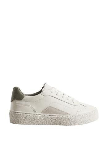 MANGO KIDS white Leather Mixed Sneakers 770C0KSA7DB60DGS_1